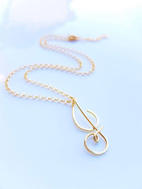 4a8b66c2c Tiny 22k Gold Cursive Initial J Necklace, Uppercase Letter J Necklace, J  Pendant, Letter J Charm, Personalized Necklace, Alphabet Necklace