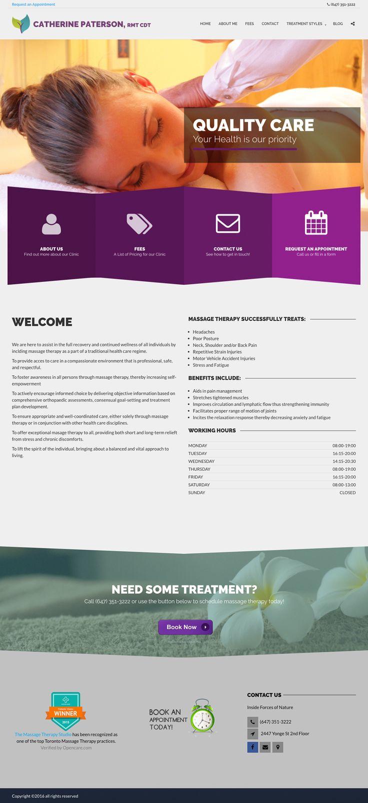 Massage Therapy Studio 102 best Website design
