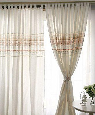 FADFAY Home Textile,White Linen Curtains,Modern Living Room Curtains,Custom  Made Curtains