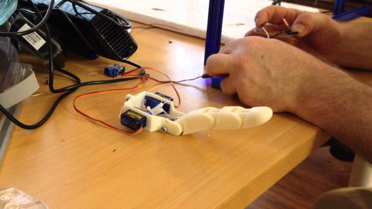 3D printed finger for a protease hand