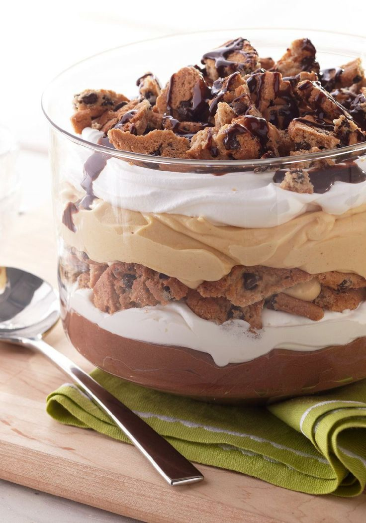 Peanut Butter-Chocolate Trifle – There's nothing trifling about this dessert that has it all: peanut butter, cookies and creamy chocolate pudding.