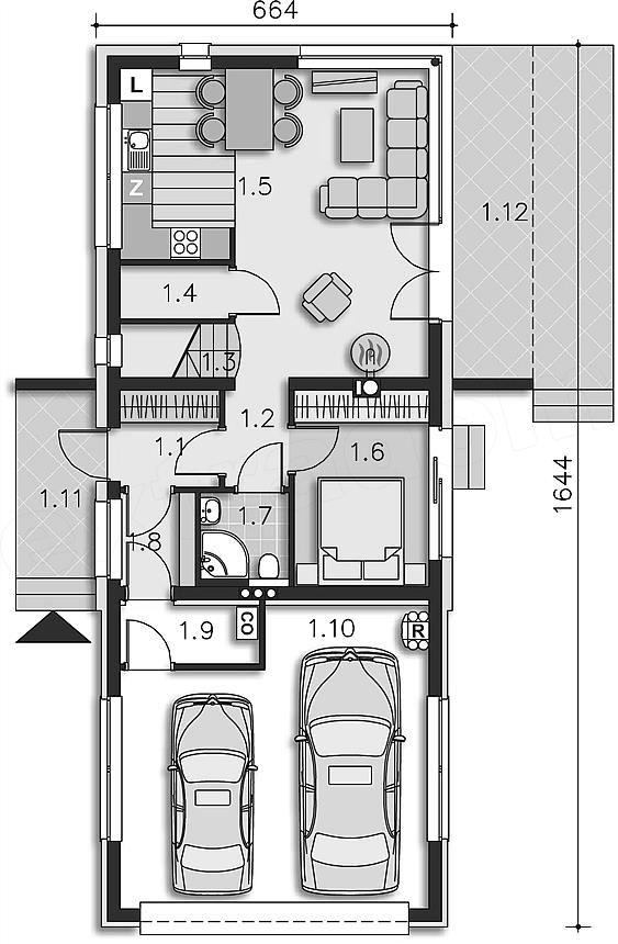 Projekt domu Belfast (DCP268) 103,83 m2   extradom