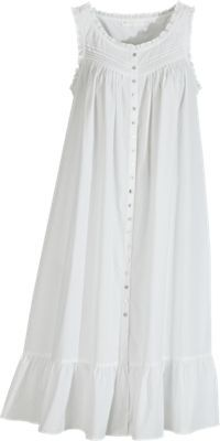 Eileen West Victorian Pinafore Robe. Don't knock it 'til you try it- what we may rudely call old lady clothes are usually pretty darn comfy and easy to slip on.