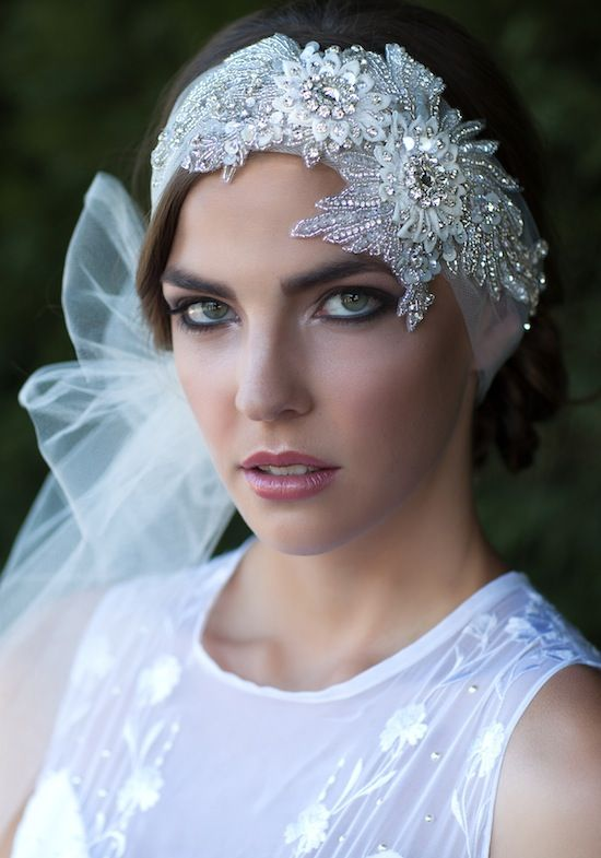 Art deco inspired bridal veil by @Emily Whitehouse Handmade | Haley Renee Photography