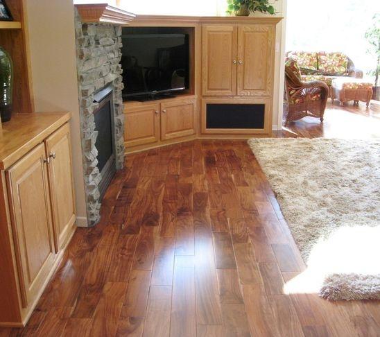 Asian Walnut Acacia Plank Hardwood Floors Traditional