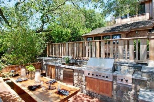 great built in outdoor kitchen: Dreams Kitchens, Kitchens Design, Contemporary Kitchens, Dreams House, Outdoor Kitchens, Outdoor Spaces, San Francisco, Summer Kitchen, Backyard Kitchens