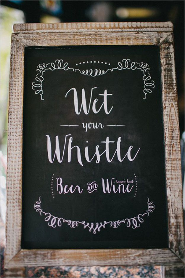 Or get really fancy with your chalkboard writing. | 27 Ways To Throw A School-Inspired Wedding