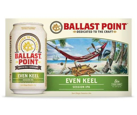 Ballast Point Even Keel Session IPA - Buy craft beer online from CraftShack. The Best Online Craft Beer Delivery Service!