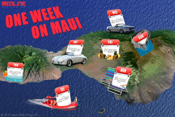 If you've only got one week on Maui, here's what to do: http://redlinerafting.com/one-week-maui/