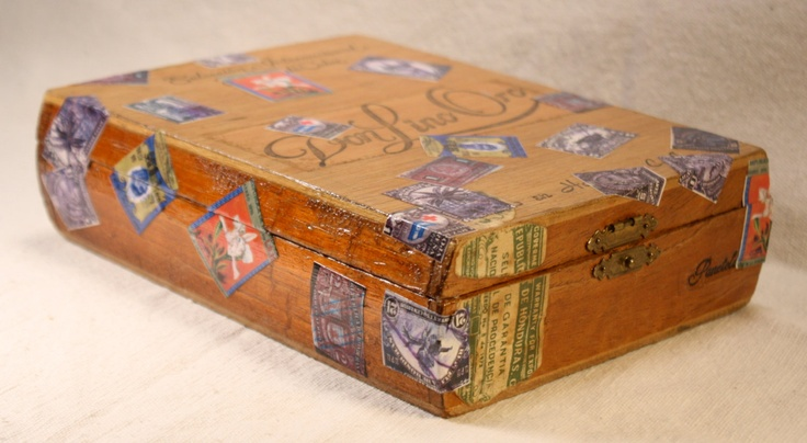 Upcycled Cigar Stash Box Honduras Honduran. $20.00, via Etsy.
