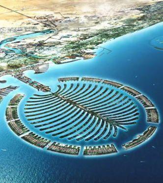 常に世界一を目指すドバイ。次は人工島「ザ・パーム」を建設中らしい。ドバイ 旅行・観光のおすすめ見所。