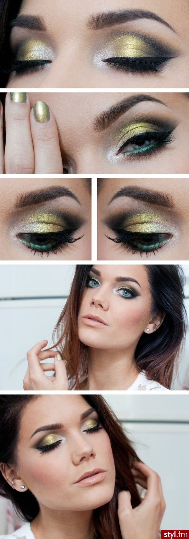 Gold and Green. <3 <3