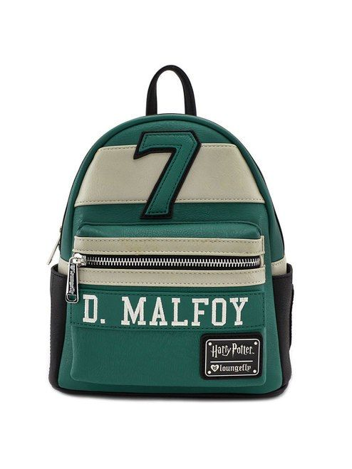 Loungefly x Harry Potter Draco Malfoy Slytherin Faux Leather Mini Backpack 346b4752423d3