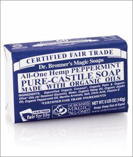 Dr. Bronner's soap, $4.49