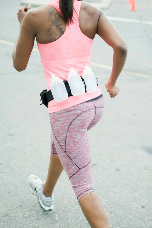 cute running outfit......... not the belt