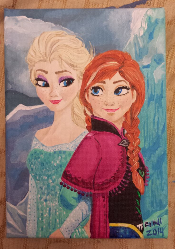 Elsa And Anna Disney Frozen by ButterflyCreation on Etsy https://www.etsy.com/listing/201780196/elsa-and-anna-disney-frozen