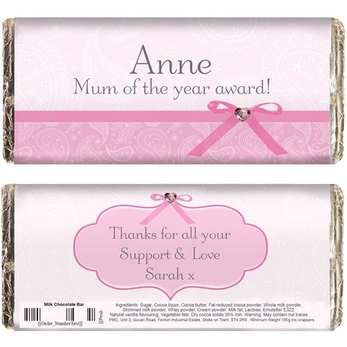 212 best easter gifts images on pinterest easter gift brand new personalised pink paisley chocolate bar add a heartfelt message to complete the gift fast uk delivery negle
