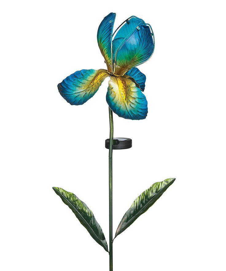 Great Blue Solar Iris Stake By Regal Art U0026 Gift