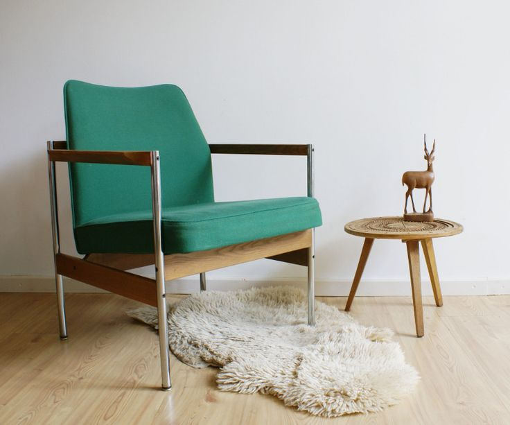 Groene retro design stoel. Vintage fauteuil | Toffe meubels | Flat Sheep