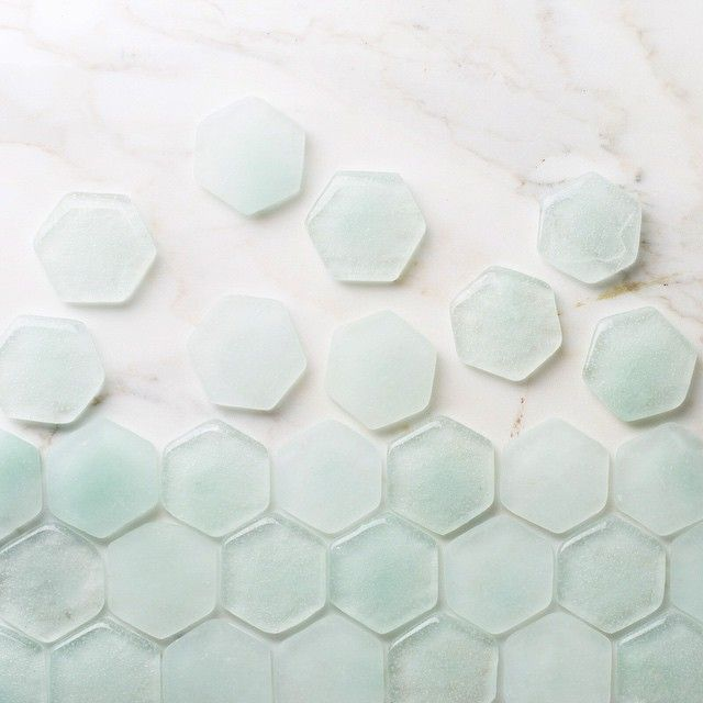 We love the barely there quality of our translucent Glass hue, Dew Drop | fireclaytile