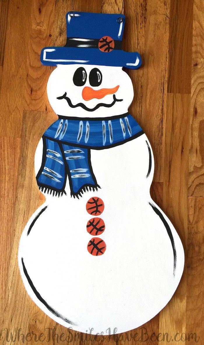 Univ. of Kentucky Basketball Snowman Door Hanger