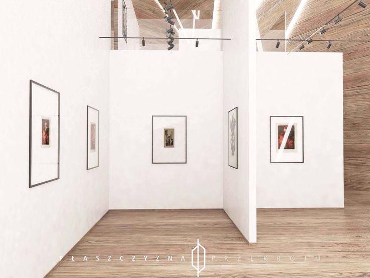 Projekt Galerii Sztuki, ktora mogłaby powstać przy ASP w Łodzi.  www.plaszczyznaprzekroju.blogspot.com