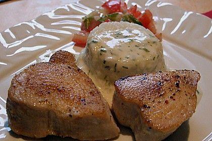 Thunfischsteak mit Zitronensahne 1