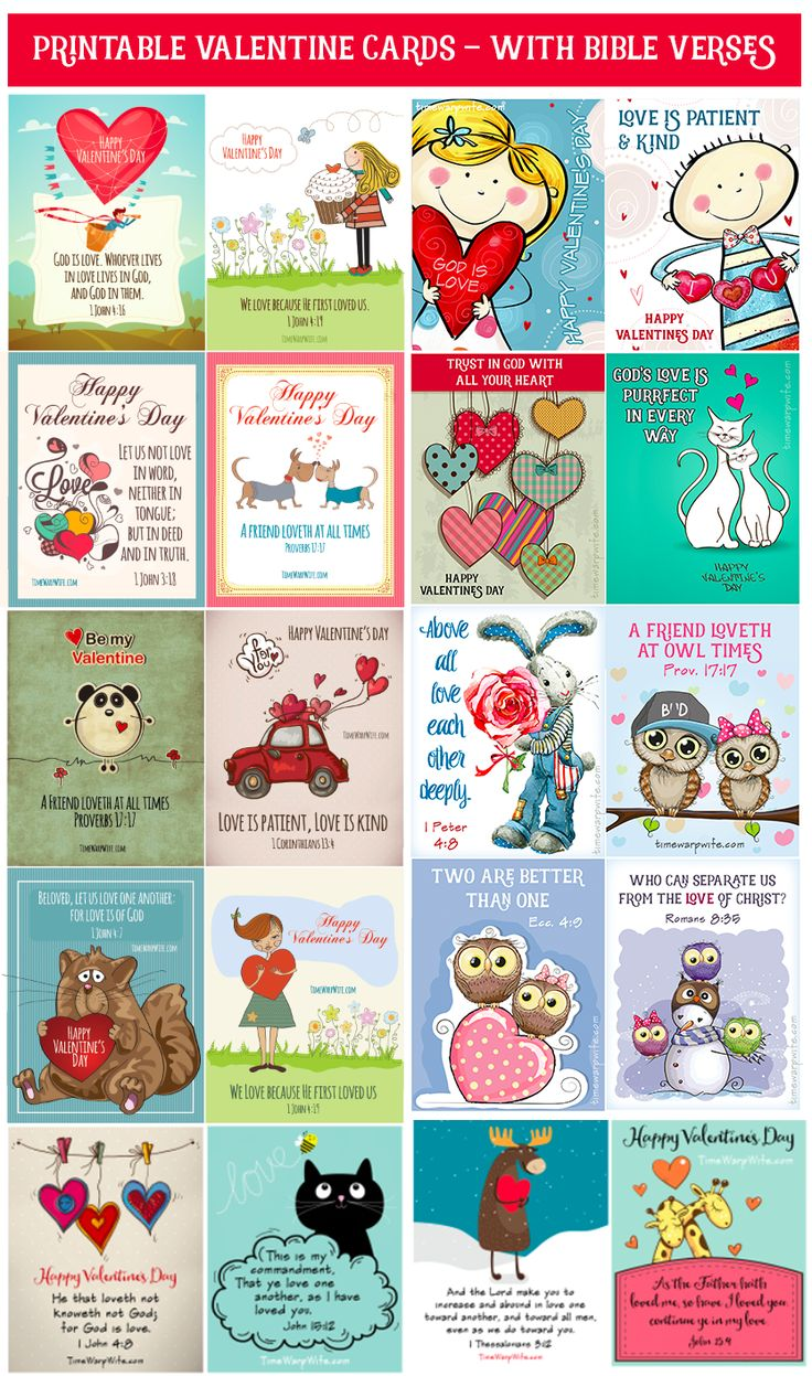 Free Printable Valentine's – With Bible Verses