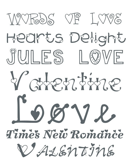 cute valentine fonts