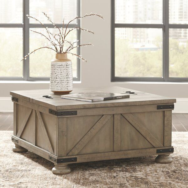 Emiliano Lift Top Coffee Table With Storage In 2020 Coffee Table