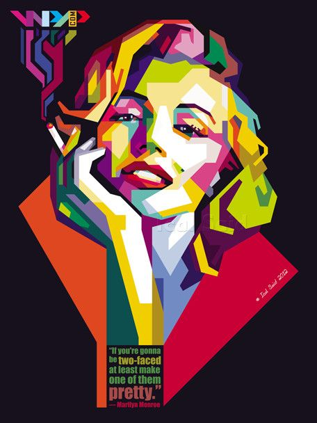 marilyn monroe in WPAP by IcalSaid