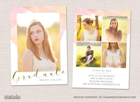 Best Grad Announcement Templates Images On Pinterest Card - Grad announcement template