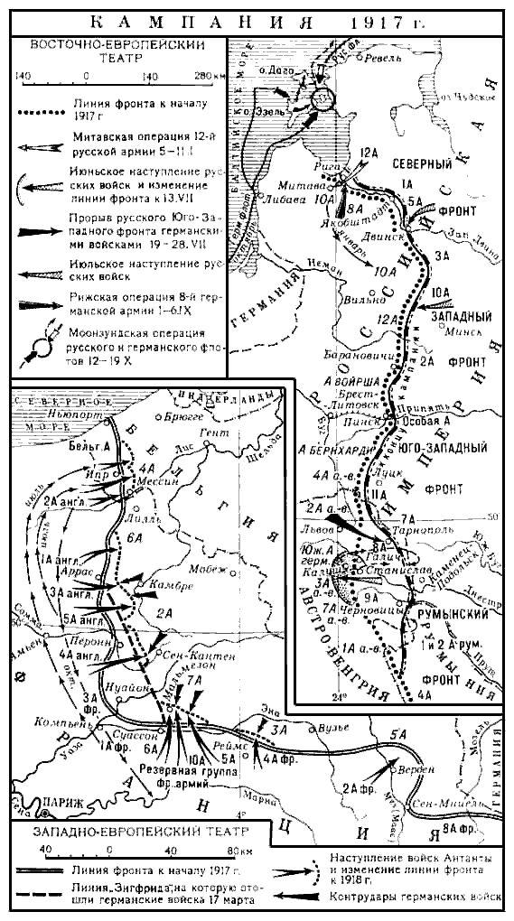 Первая мировая война - 1917 год