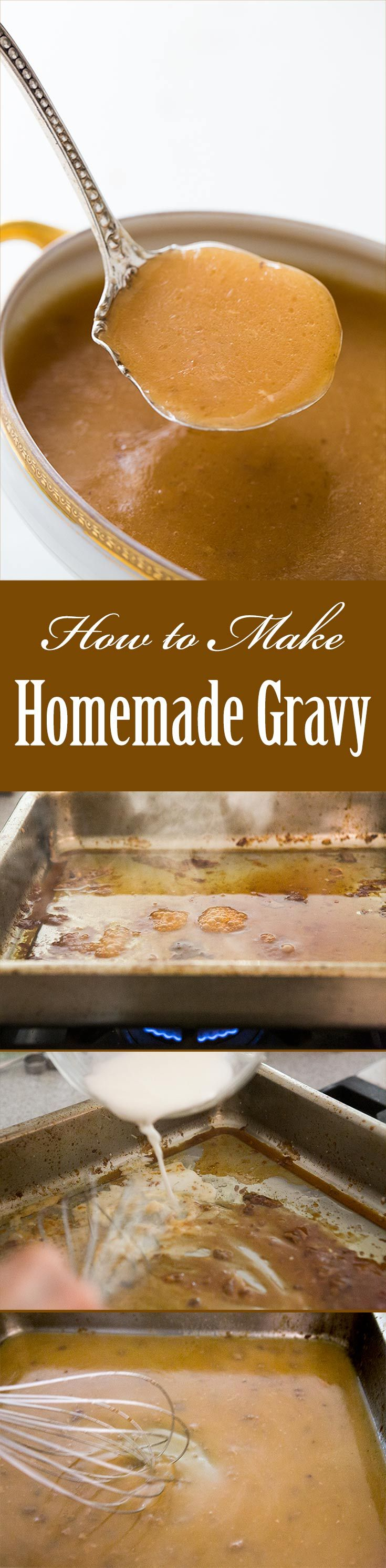 How to Make Gravy ~ Two easy gravy recipes with photos and step-by-step instructions. ~ SimplyRecipes.com
