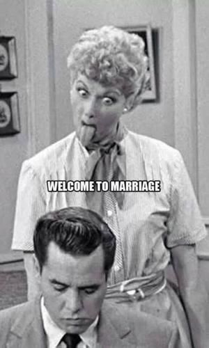 Welcome to Marriage - I Love Lucy Sticks Her Tongue at Ricky