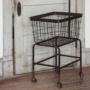 Rolling Laundry Cart | Rolling Cart | Metal Cart on Wheels | Rolling Laundry Basket