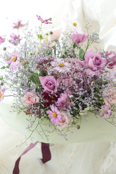 ご両親への贈呈花 秋の花束、春のアレンジ  : 一会 ウエディングの花