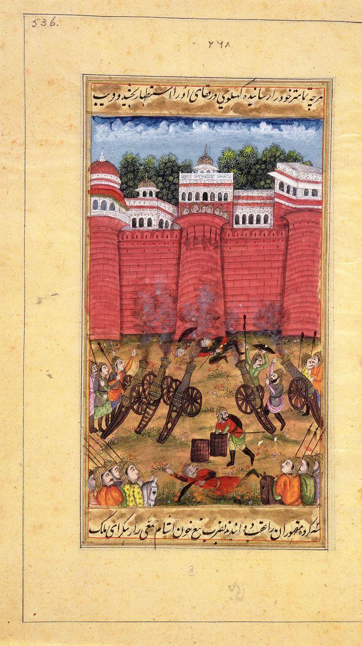 Capture of Daulatabad Fort in 1633, Folio from Lahori's Padshahnama
