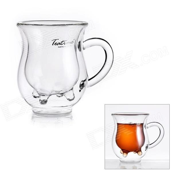 Creative Milk Teat Style Double Layer Milk Glass - Transparent (200ml)
