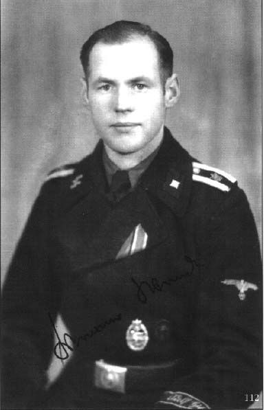 Uscha. Werner Wendt commander of Tiger 123 during the fight in Nothern France.