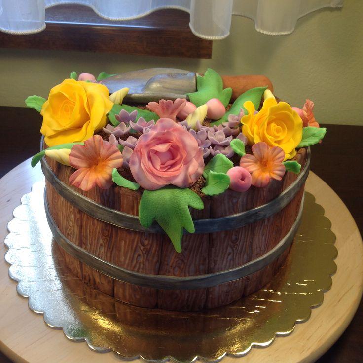 garden flowers cakes