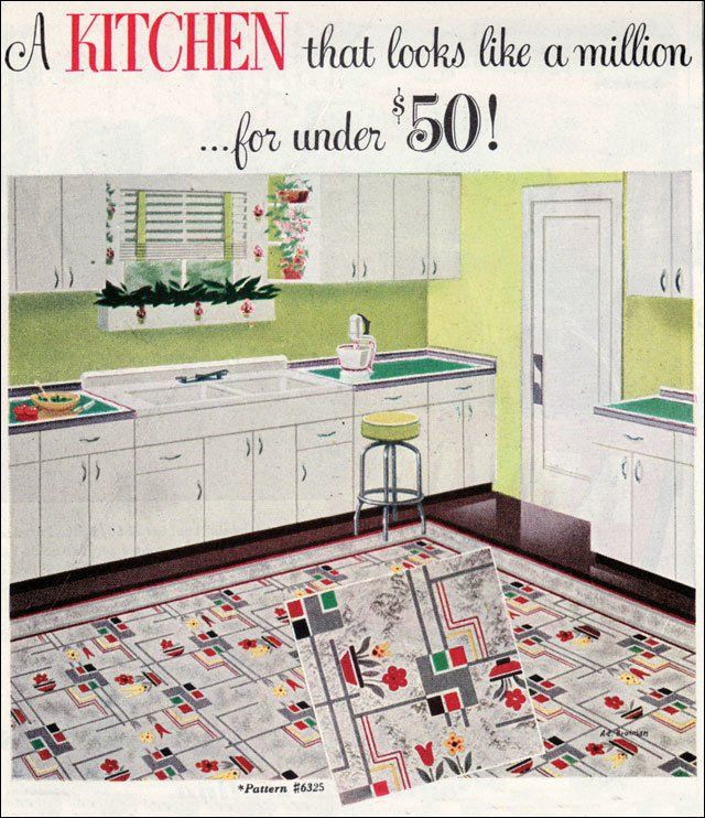 77 best vintage linoleum images on pinterest | linoleum flooring