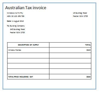Australian Tax Invoice 13