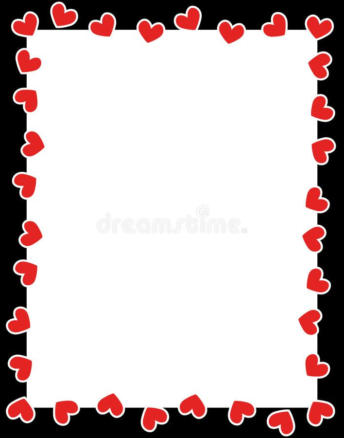 Red Hearts Valentine S Day Border Clean Valentine S Day Holiday Love Border Sponsored Clean Valentines Day Border Printable Border Borders For Paper