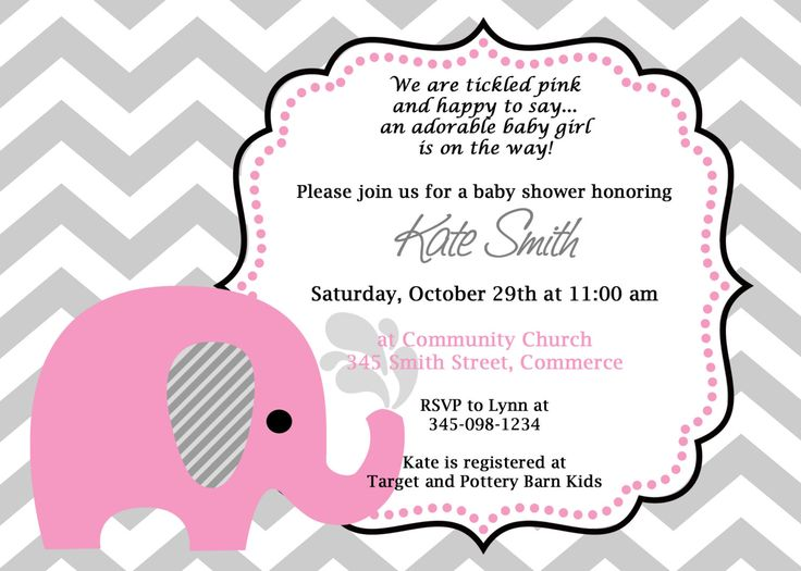 10 best cute baby shower invitation ideas images on pinterest baby shower invitations baby shower invitations pink elephant pattern style cute baby shower invitation with filmwisefo