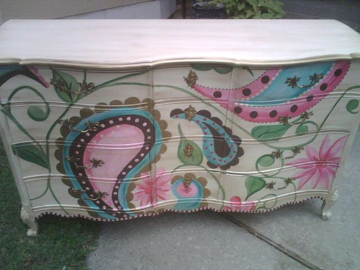 Hand Painted Furniture ~ Paisley