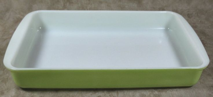 Pyrex Lime green #232 Casserole Pan Baking Dish 2 Quart #Pyrex