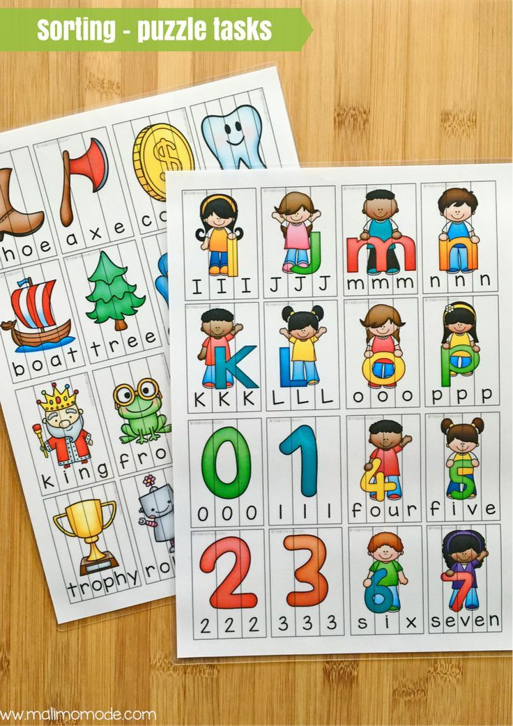 Here are some fun sorting puzzles for word building and basic language development! These are great for your preschool, Kindergarten, and 1st grade classroom or homeschool students. Puzzle topics include alphabet letters, nouns, verbs, numbers, and MORE! Click through now to see all the options available and grab these for your preK, K, or first grader today.