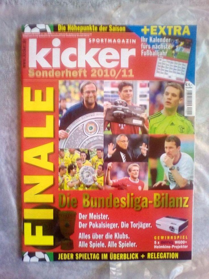 Kicker!Sportmagazin!Die Bundesliga Bilanz!Sonderheft  2010/11!NEU!  | eBay