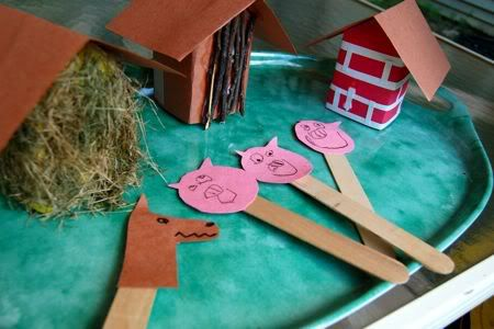"what a fun idea to take up a rainy afternoon-- make a ""play set"" to act out a child's favorite story!"